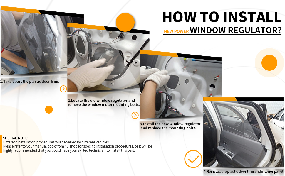 how to install window regulator
