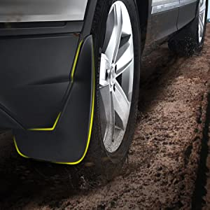 mud flaps after installation