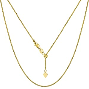 yellow gold chain necklace for women