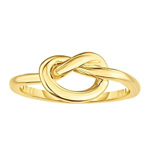 shop 14k yellow gold love knot ring for women