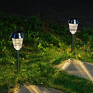 unique two tier clear lens unique two tier clear lamps add a charming decorative glow to your pathways decorate your garden porch or yard