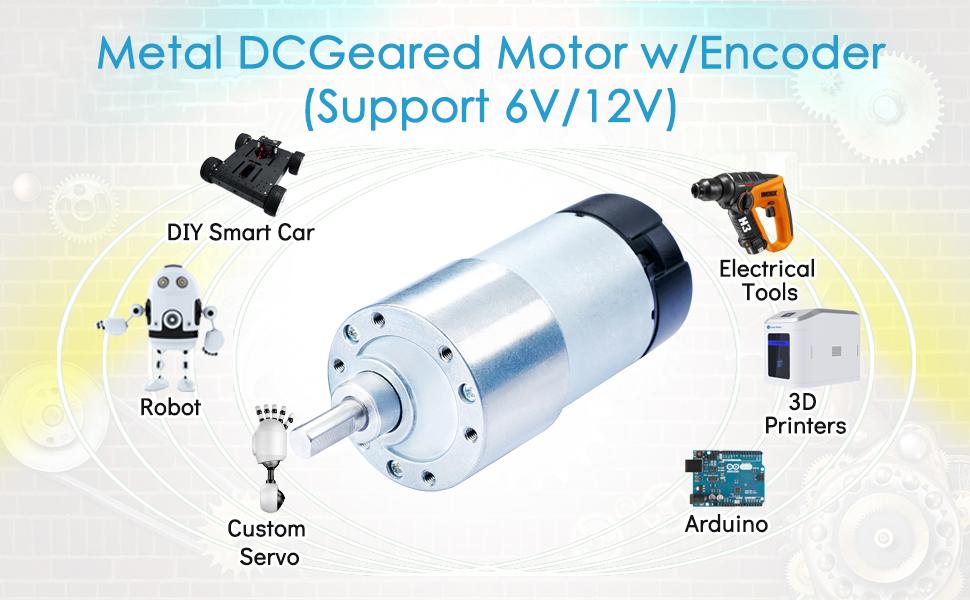 Electric Motors GA25 DC 12V 1000RPM 4mm Shaft Dia Speed