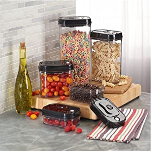 The KitchenTrend Vacuum Seal Lid Food Storage System extends the life of your food by keeping air out of the container. Simply press the button in the ... & Amazon.com: Food Storage Container Airtight Vacuum Lid Food Storage ...