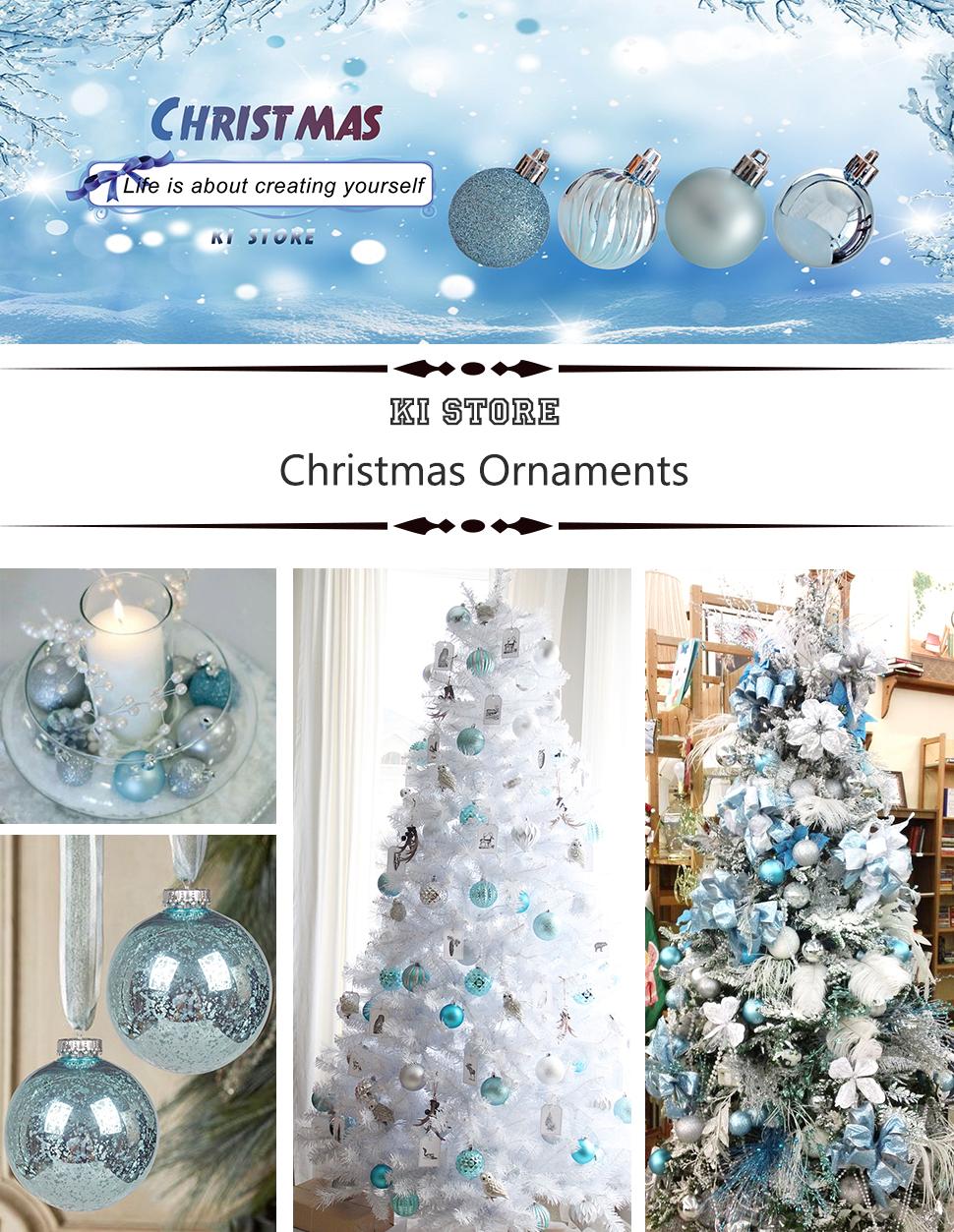 Amazon.com: KI Store 24ct Christmas Ball Ornaments Shatterproof ...