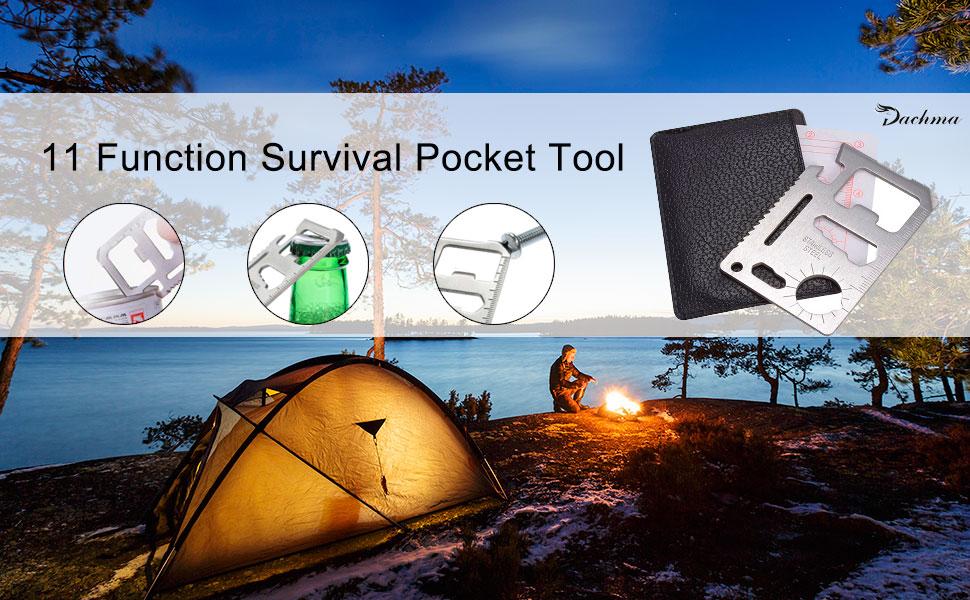 11 in 1 Multi-Functional Stainless Steel Credit Card Survival Outdoor Pocket Camping Tool Card Beer Bottle Opener