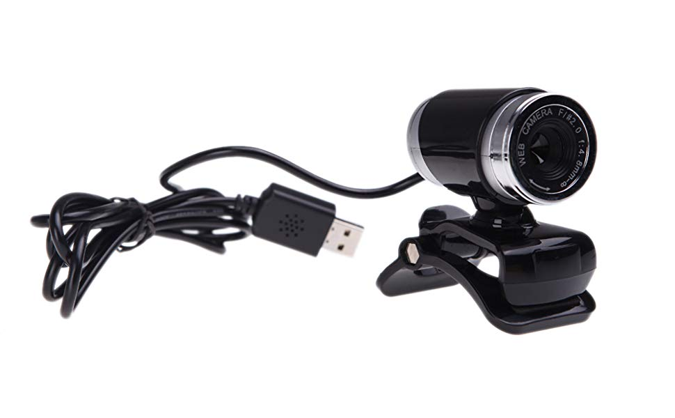 Docooler USB 2 0 12 Megapixel HD Camera Web Cam with MIC Clip-on 360 Degree  Black