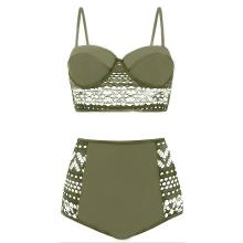 Amazon.com: Somateva traje de baño de dos piezas de encaje ...
