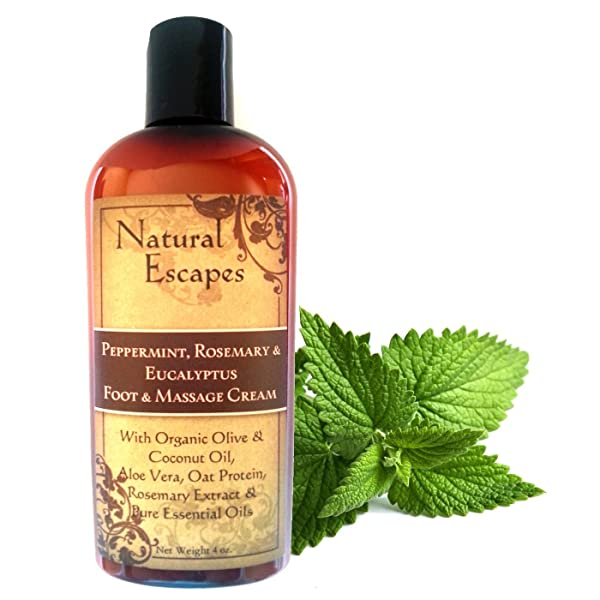 Image result for Peppermint, Rosemary & Eucalyptus Massage & Foot Cream Organic Foot Cream for Dry Cracked Feet | Therapeutic Massage Cream | Anti-inflammatory Cream | Antifungal Foot Cream | Peppermint Foot Lotion free download image