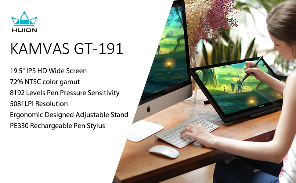Huion Graphic IPS Pen Display KAMVAS GT-191