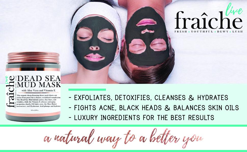 Amazon.com: Live Fraiche Máscara de barro orgánico para el ...