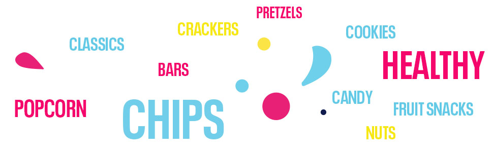 Popcorn Classics Bars Chips Crackers Pretzels Nuts Candy Cookies Healthy Fruit Snacks
