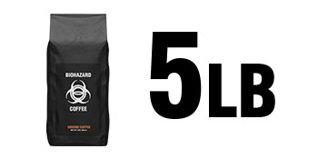 Five Pounds (5lbs) of Biohazard Coffee