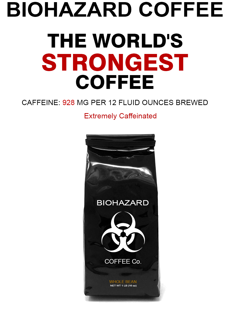 Amazon.com : Biohazard Whole Bean Coffee, The World\'s Strongest ...