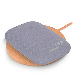 WoodPuck: Bamboo Edition Fast Wireless Charger, 7.5W Charging for iPhone XS, XS Max, XR, X, 8, 8 Plus,10W Fast Charger for Galaxy S9, S9 Plus, S8, S8+, Note 9, 8, 5 and Other Qi Phones (No AC Adapter) 11