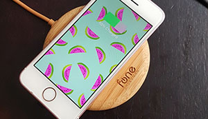 WoodPuck: Bamboo Edition Fast Wireless Charger, 7.5W Charging for iPhone XS, XS Max, XR, X, 8, 8 Plus,10W Fast Charger for Galaxy S9, S9 Plus, S8, S8+, Note 9, 8, 5 and Other Qi Phones (No AC Adapter) 10
