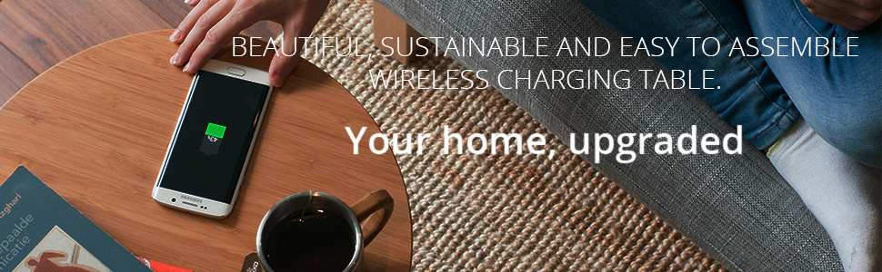 FurniQi Wireless Charging Side Table compatible with iPhone XS, XS Max, XR, X, 8, 8 Plus, Samsung Galaxy S9, S9+, S8, S8+, S7, S7 Edge, S6, S6 Edge, Note 9, 8, 5, LG V30S all other Qi-Enabled devices. 7