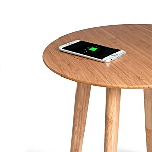 FurniQi Wireless Charging Side Table compatible with iPhone XS, XS Max, XR, X, 8, 8 Plus, Samsung Galaxy S9, S9+, S8, S8+, S7, S7 Edge, S6, S6 Edge, Note 9, 8, 5, LG V30S all other Qi-Enabled devices. 10