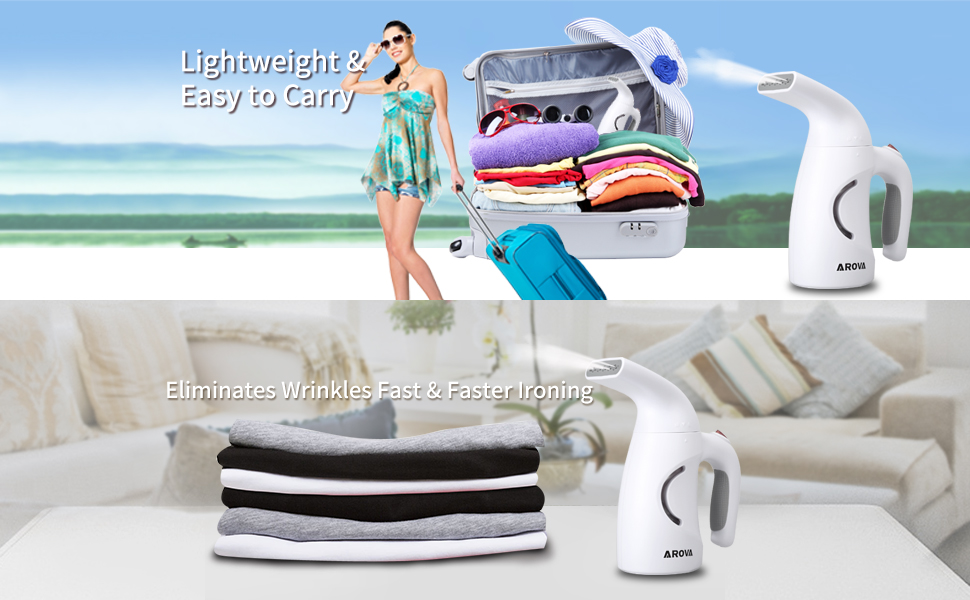 kiss those clothes wrinkles goodbye with an arova garment steamer 2ideal for office travel hotel business trip and home of course - Garment Steamer