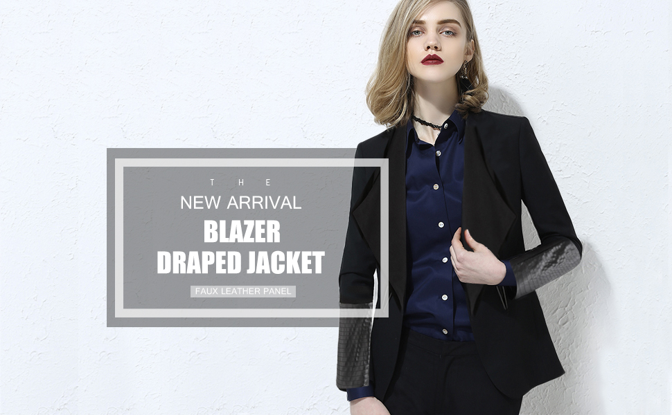 draped by long poiret jacket operandi blazer large moda drapes grey loading