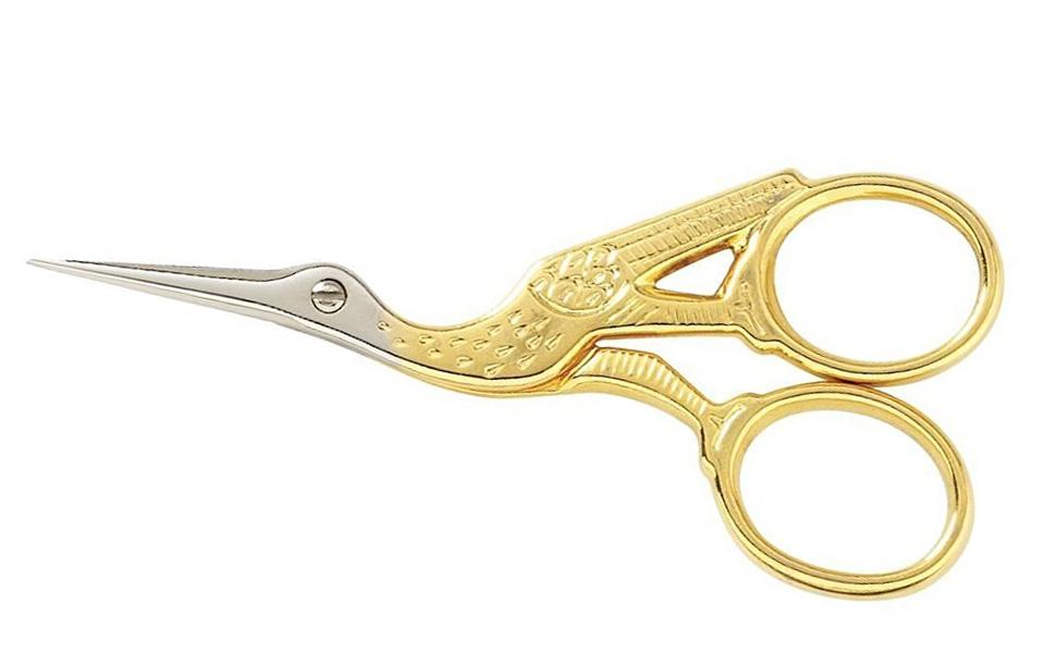 Stork Scissors Charms-C-727 gold or 10 pcs. 2 pcs