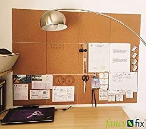 mount cork tiles to any wall in any youu0027ve got a custom cork board cork is designed for light use and is suitable for work home or school - Cork Board Tiles