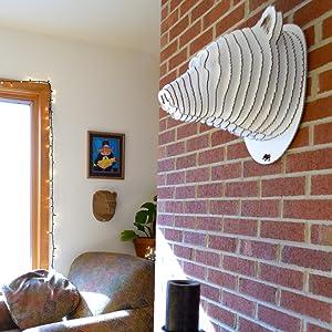 Cardboard Safari Home Decor Wall Decor DIY Faux Taxidermy