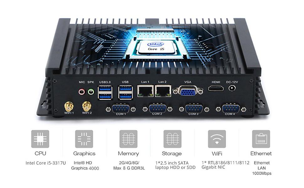 Amazon.com: hystou fmp04 Intel Core i5 – 3317U Mini PC con ...