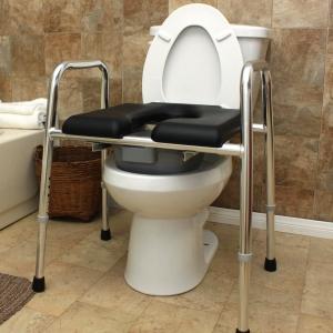 Amazon.com: Padded Raised Toilet Seat / Safety Frame / Commode ...