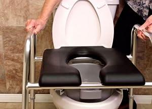 Amazon.com: Padded Raised Toilet Seat / Safety Frame
