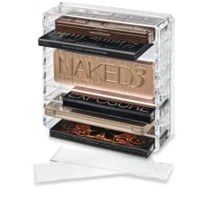 BYALEGORY CLEAR ACRYLIC MAKEUP PALETTE ORGANIZER FULL WITH SLATS REMOVED