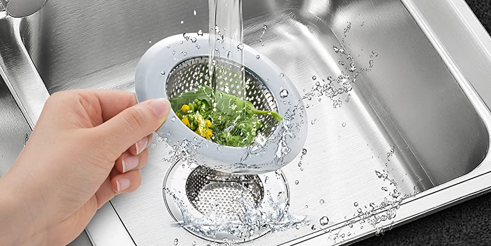Amazon.com: Fengbao colador para fregadero de cocina, 2 ...