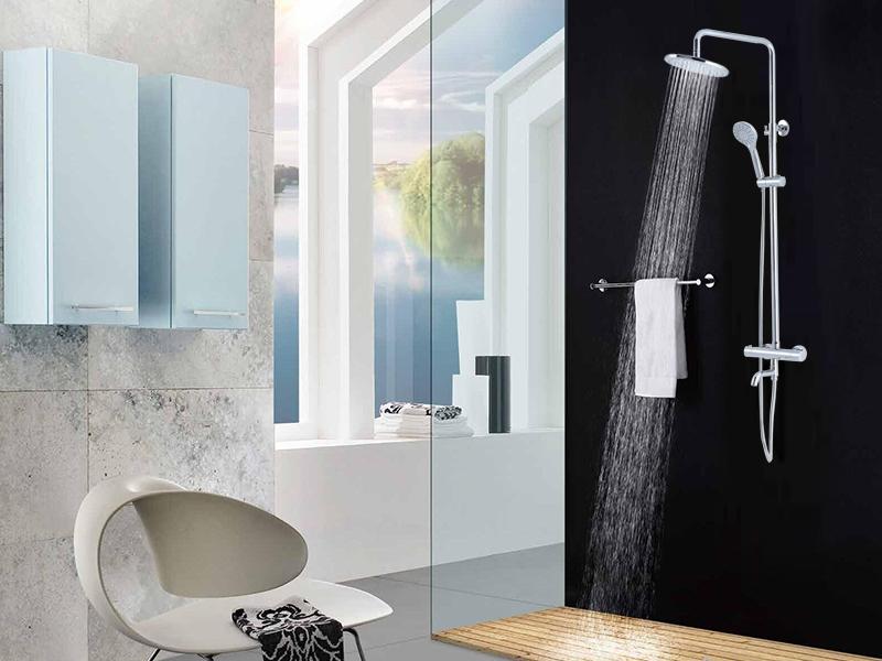 CRW Thermostatic Rain Shower System Mixer Faucet Sets Triple ...