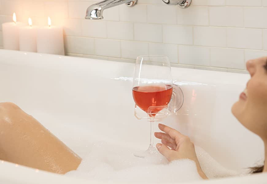 Amazon.com: SipCaddy Bath & Shower Portable Cupholder Caddy for Beer ...