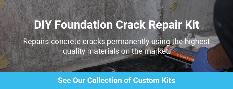 Diy concrete foundation crack repair kit polyurethane foam 116 professional grade kit solutioingenieria