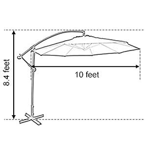 10ft Offset Hanging Patio Umbrella