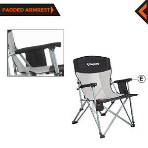 wide camping chair