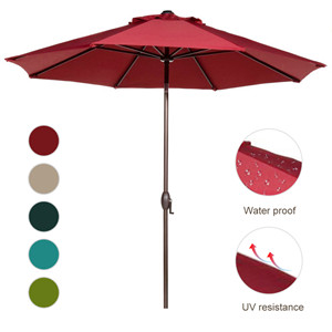 Fabric: 100% Polyester, Waterproof, UV Protection. Colorfastness To Light:  Fade Resistant, EU Standard Grade 4 Min. At 1000 Hours