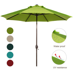Available In Colors: Beige, Red, Dark Green, Turquoise, Lime Green Whatu0027s  Included: 9ft Patio Umbrella, User Manual