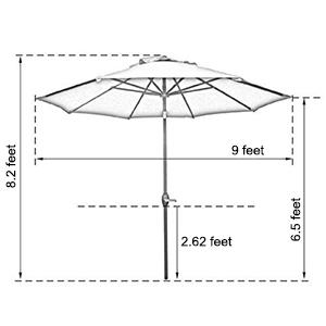 abba patio outdoor patio umbrella 9 market