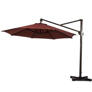11 Feet Cantilever Patio Umbrella, Essential Wind And Heat Ventilation