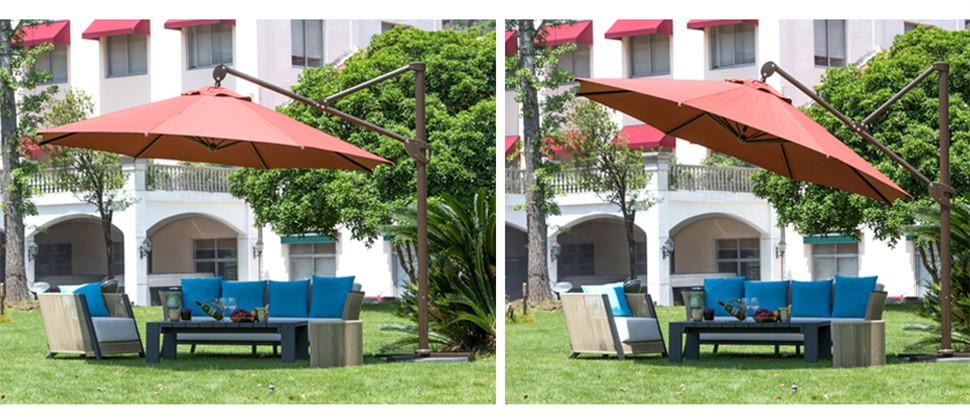 abba patio 11 feet cantilever patio umbrella - Abba Patio