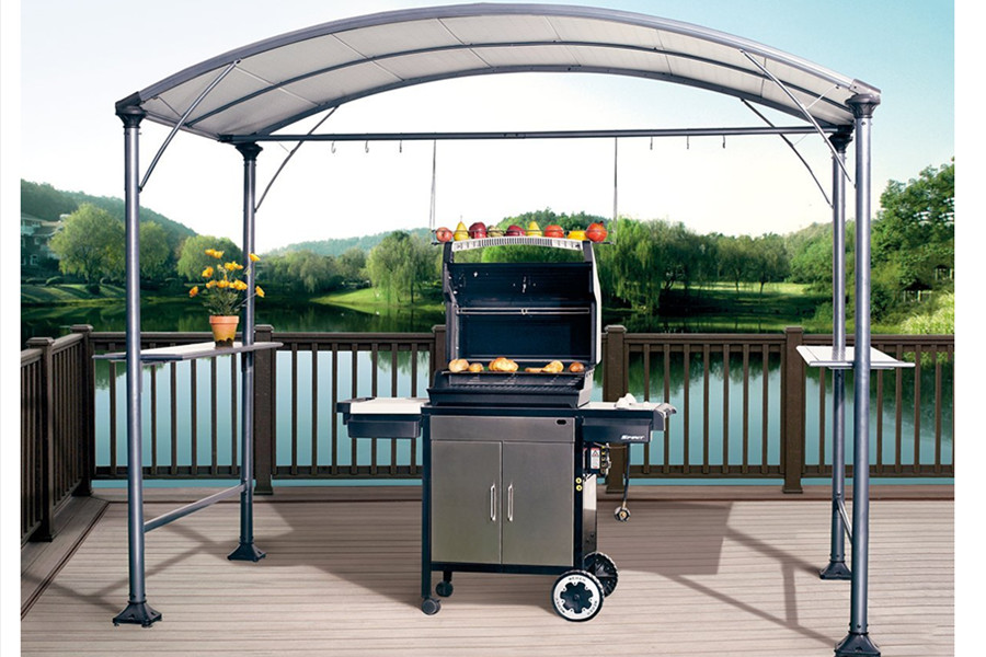 This grill gazebo is made of Steel with a steel canopy which is designed to endure and protect for seasons to come. This grill gazebo will help keep your ... & Amazon.com : Abba Patio 9u0027 x 5u0027 Outdoor Backyard BBQ Grill Gazebo ...