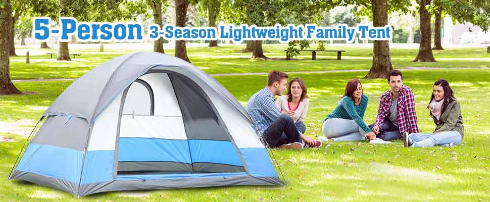 Tent Material and Technical Specification  sc 1 st  Amazon.com & Amazon.com : Semoo Water Resistant 5 Person 3-Season Lightweight ...