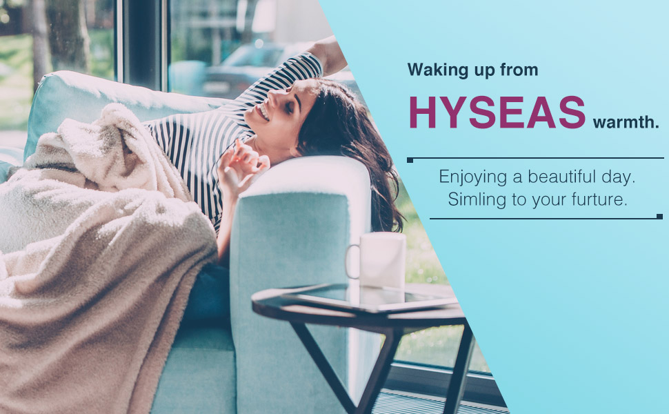 Waking Up from HYSEAS Velvet Plush Throw
