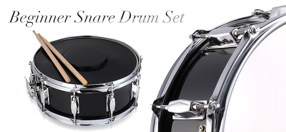 adm student snare drum set with case sticks stand and practice pad kit musical. Black Bedroom Furniture Sets. Home Design Ideas