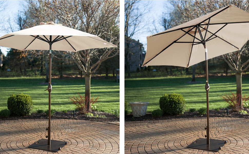 Like A Tropical Breeze, The 7.5 Ft.Market Patio Umbrella Brings A Welcome  Touch Of Cool To Your Outdoor Space. Keep Guests Shaded While You Lounge  And ...