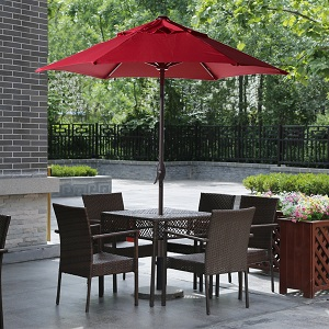 Umbrella Type: Market Umbrella, W/ Tilt And Crank, W/o Base   Size: 7.5 Ft  Provides Shade For Two Pool Lounge Chairs Side By Side Or Shade Round,  Outdoor ...