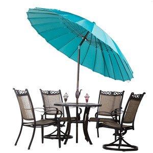 whatu0027s included 85foot fiberglass umbrella user manual whatu0027s not included umbrella base patio table and chairs set