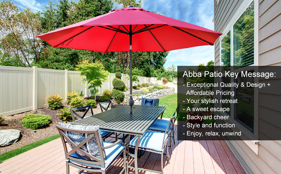 Like A Tropical Breeze, The 11 Ft.Market Patio Umbrella Brings A Welcome  Touch Of Cool To Your Outdoor Space. Keep Guests Shaded While You Lounge  And Linger ...
