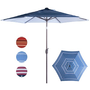 amazon com abba patio striped patio umbrella 9 feet outdoor